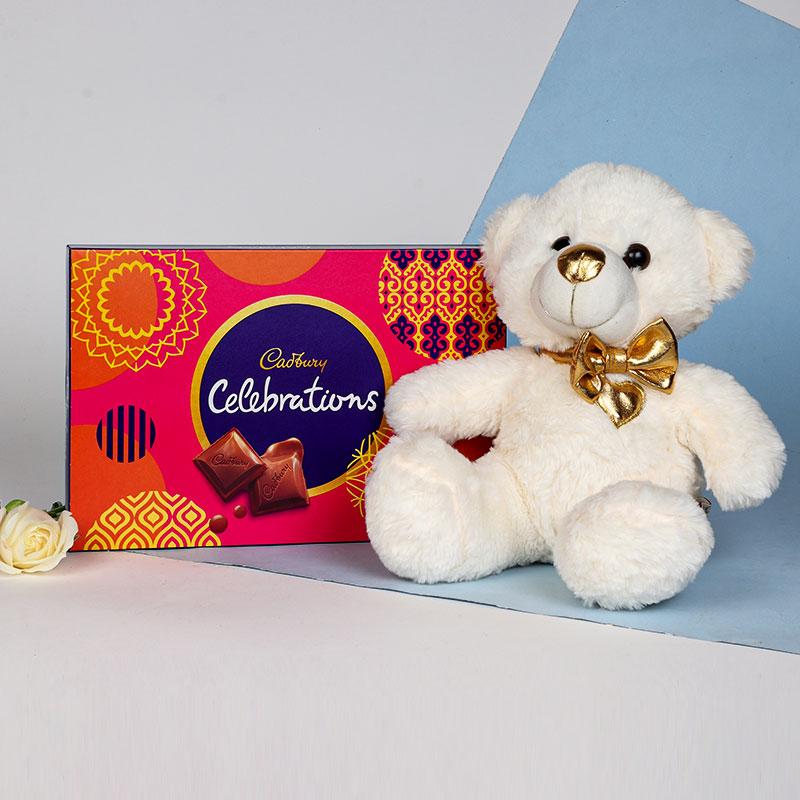 Teddy With Cadbury Celebration