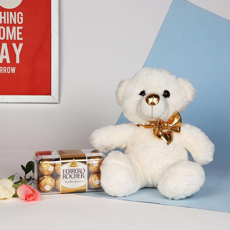 Soft Teddy With Ferrero Rocher