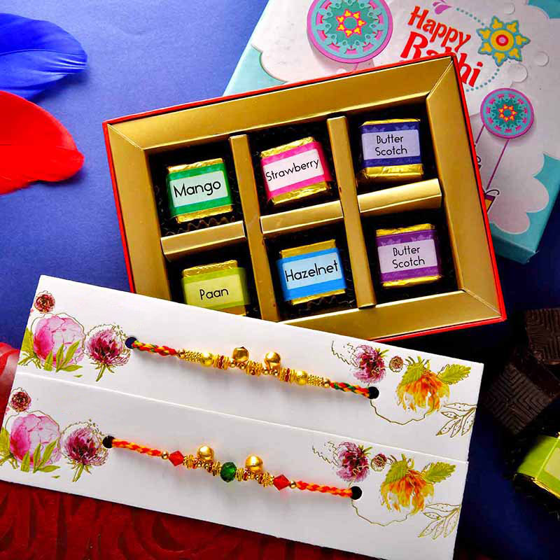 2 Ghungroo Rakhi N Flavoured Chocolates