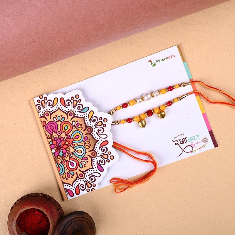 Rakhi Set With Sweets Combo Online