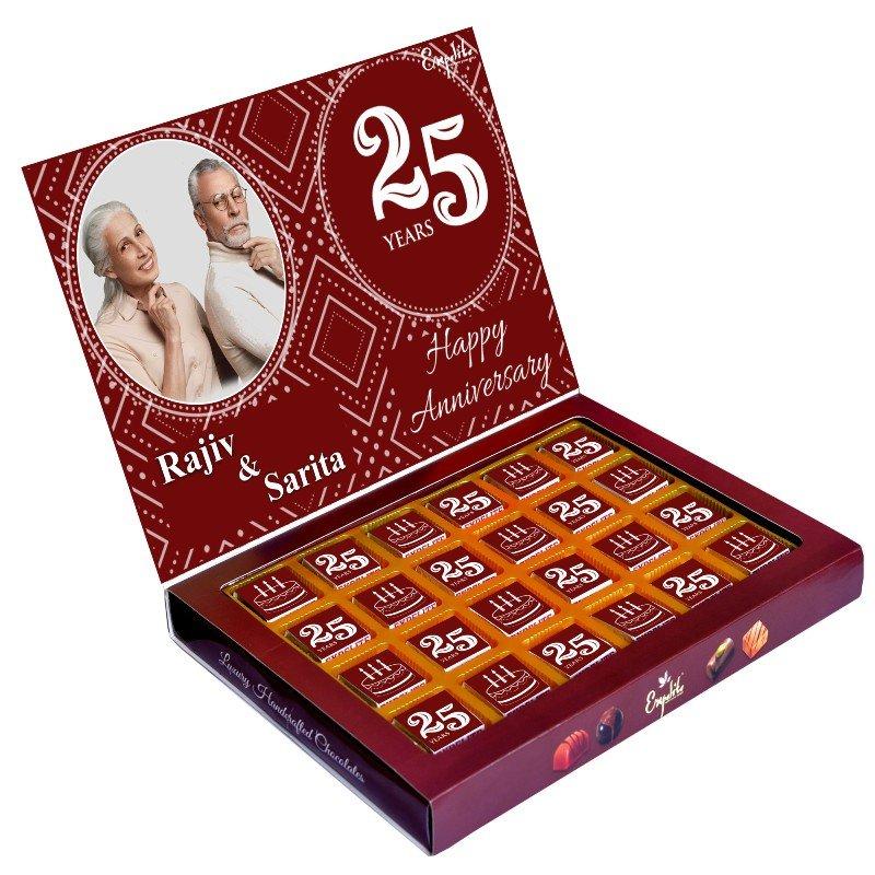 24 Pieces of Premium Personalised Anniversary Chocolates