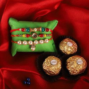 3 Rakhi Combo With Ferrero Rochers