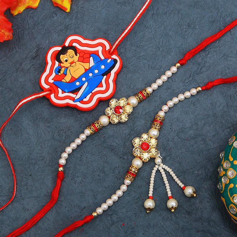 3 Traditional Rakhi combo