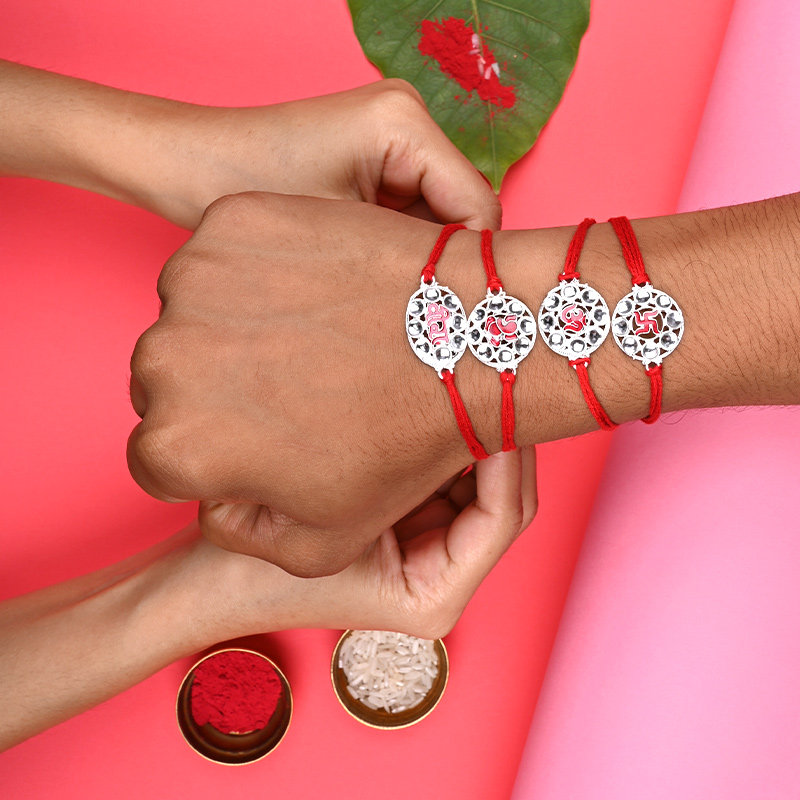 Silver Rakhi Online Delivery in India