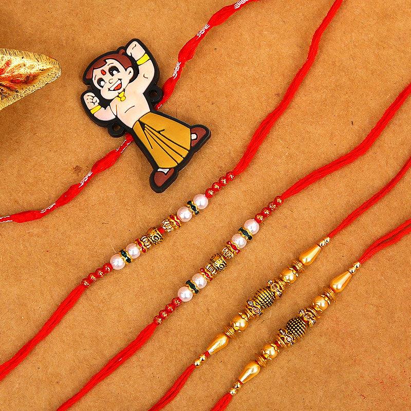 5 traditional Rakhi combo