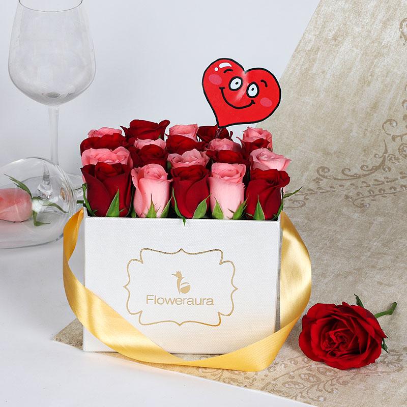 Red N Pink Flower Box