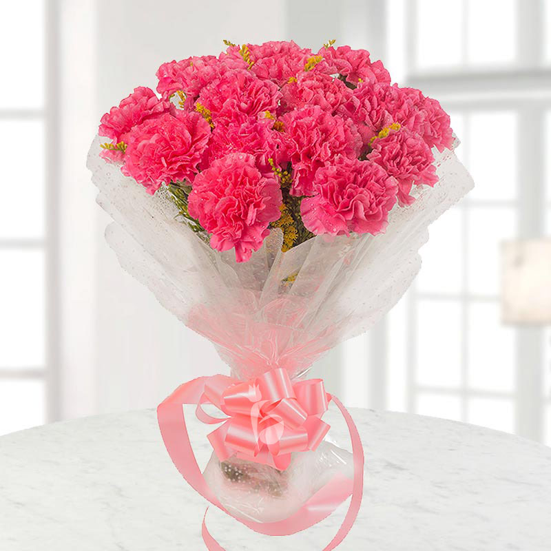 15 Pink carnations