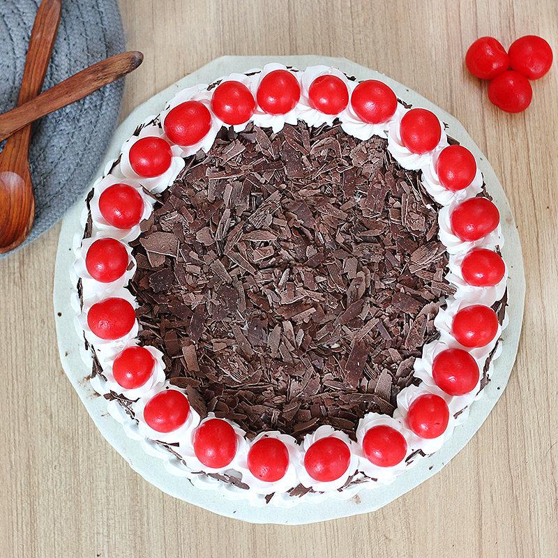 Order Online Eggless Black Forest Cake