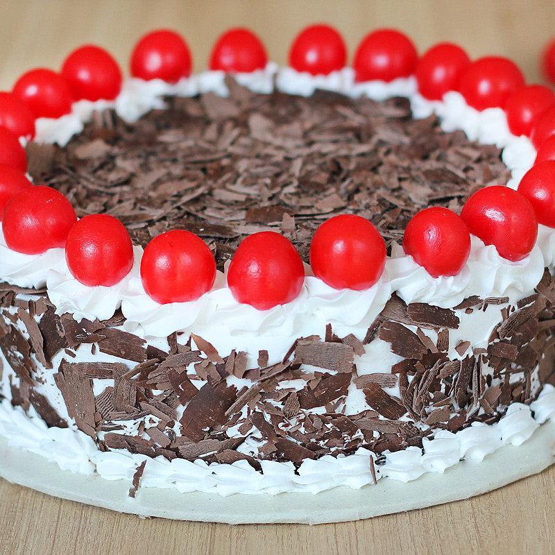 Eggless Black Forest Birthday Cake