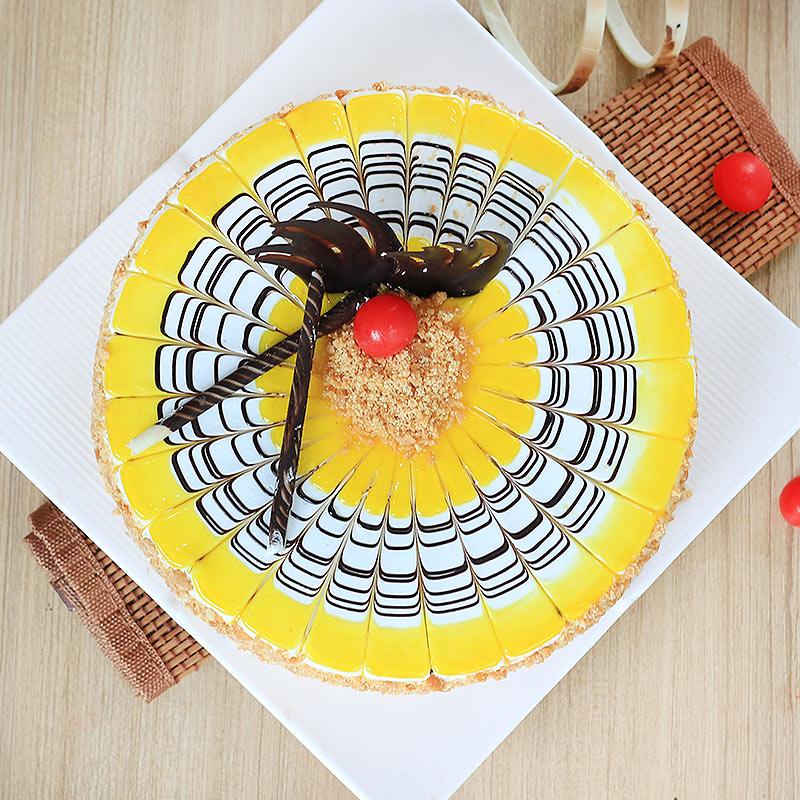 Butterscotch Cake 1 Kg Premium - Top View