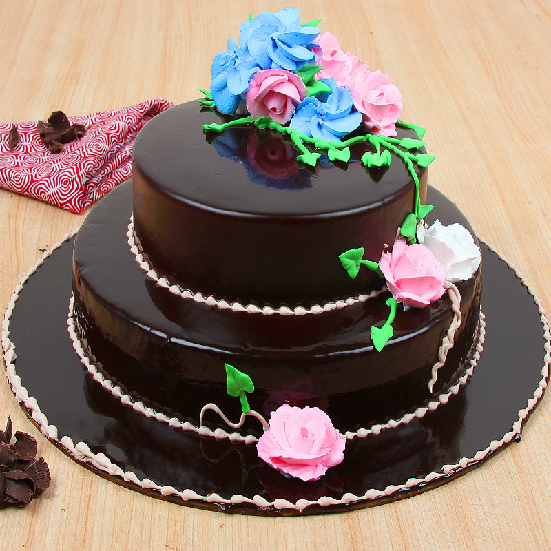 2 Tier Chocolate Cake 3 kg