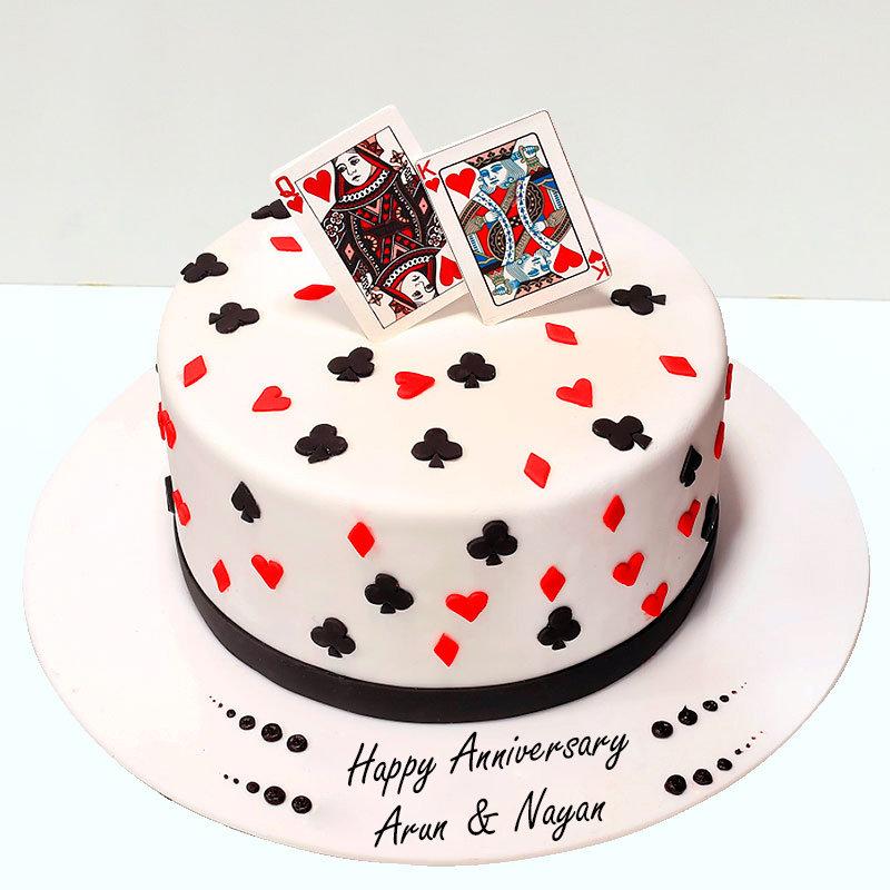 Anniversary Fondant Cake