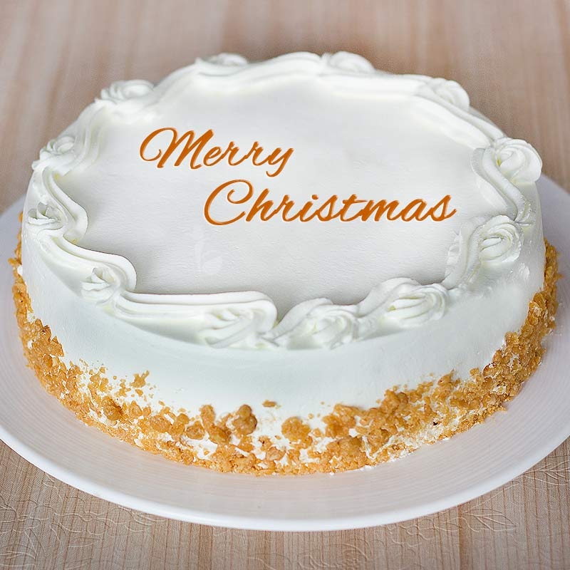 Butterscotch cake for Christmas