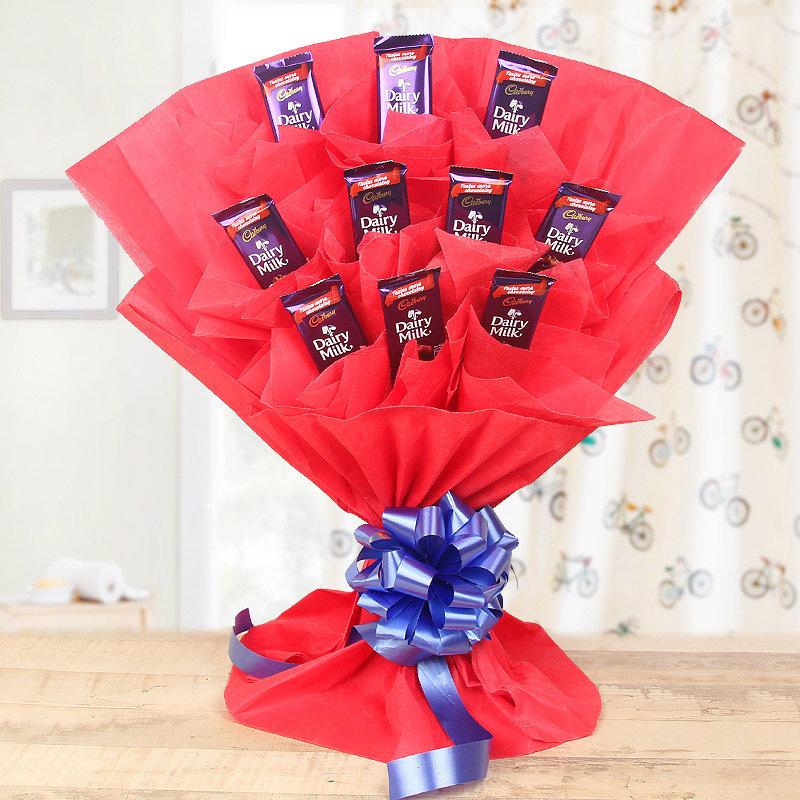 Chocolate Love - Bouquet of 10 Cadbury Dairy Milk