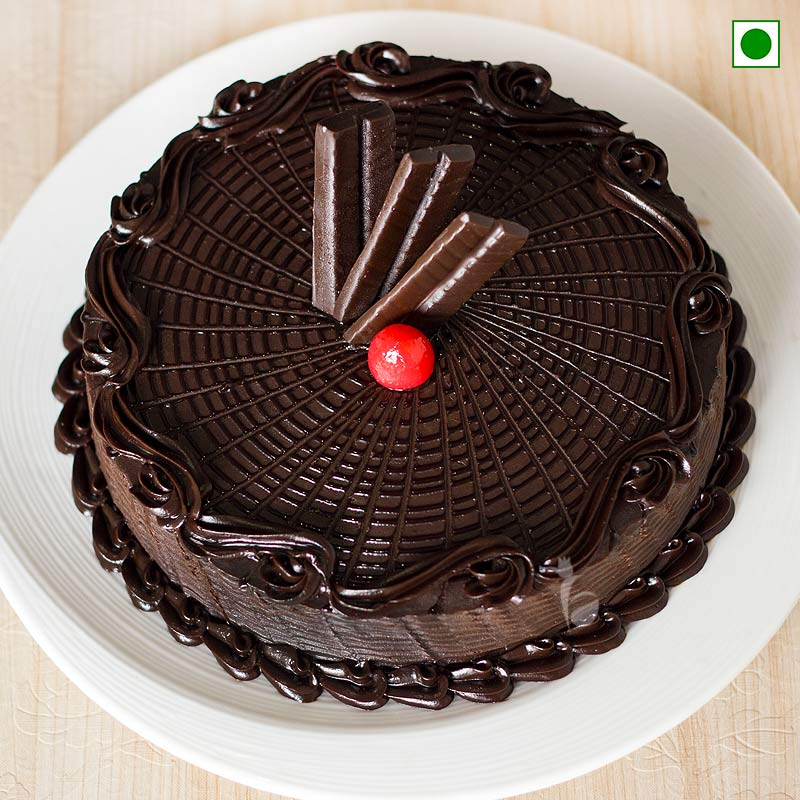 Chocolate Cake Eggless - Top View