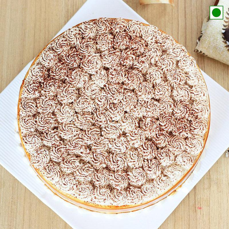 Eggless Coffee Cake - Top View