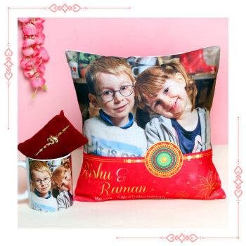 Send Online Rakhi With Cushions