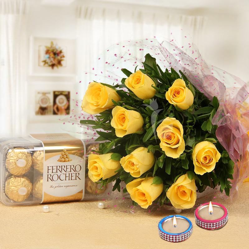 Blooming Diwali Wishes - A Diwali Gift Combo