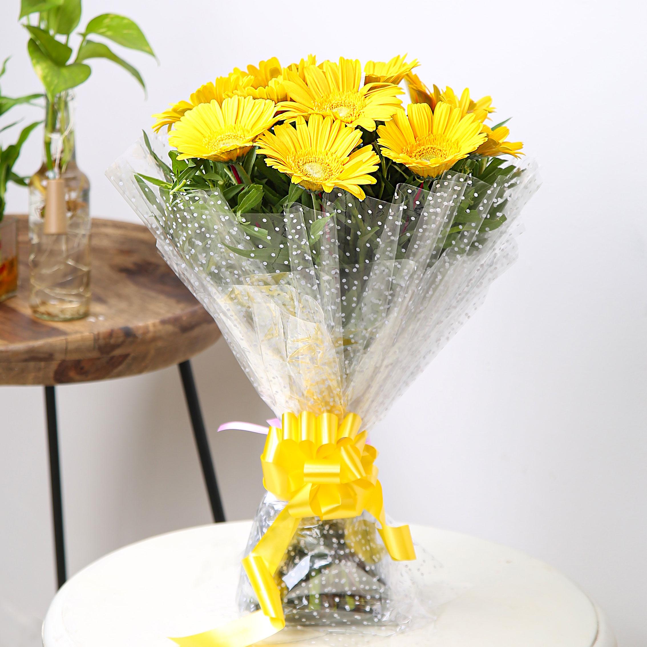 Image 1 of 10 Yellow Gerberas
