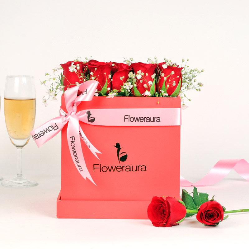 Valentine Roses Box Gift