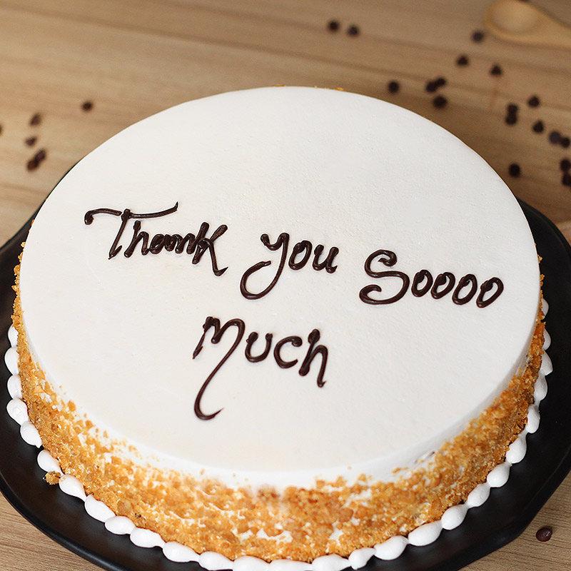 Saying Thanks Cake - Zoom View