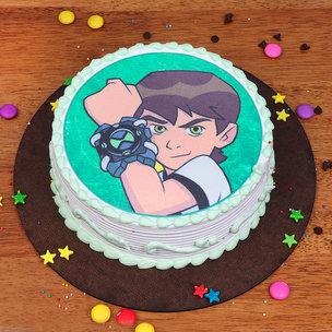 Ben 10 Photo Cake for Children