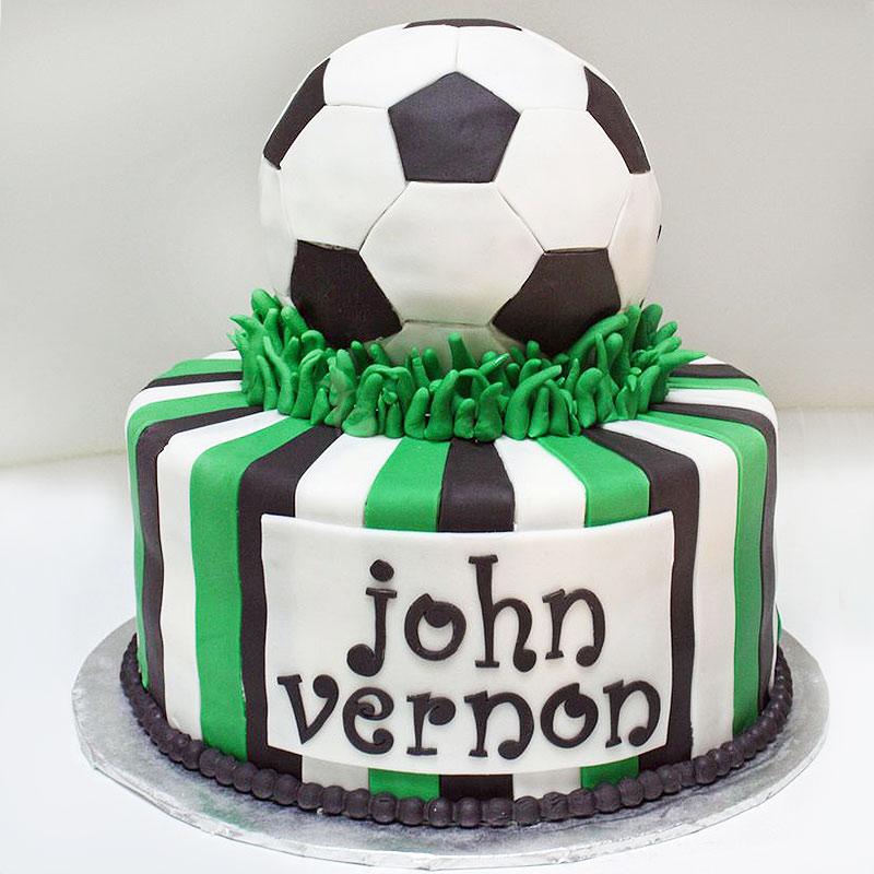 Football Theme Fondant Cake