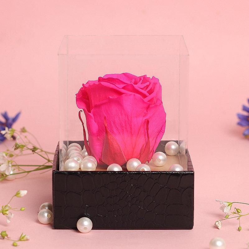 Preserved Pink Rose - Rakhi Gifts for Sister Online