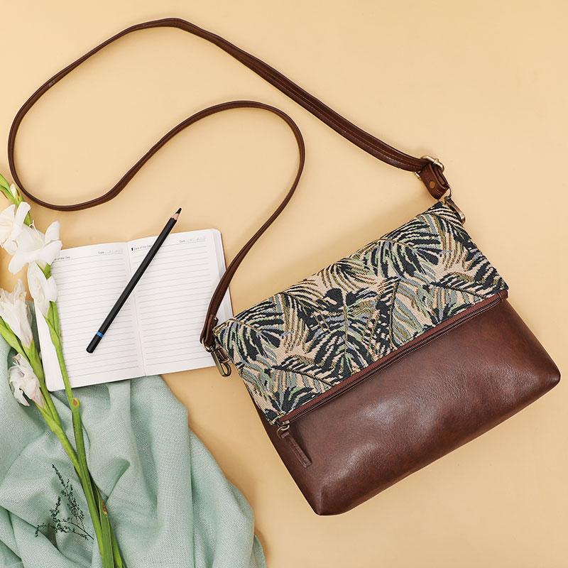 Green Maple Sling Bag