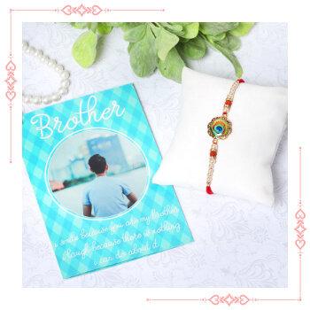 Send Online Rakhi With Greeting card