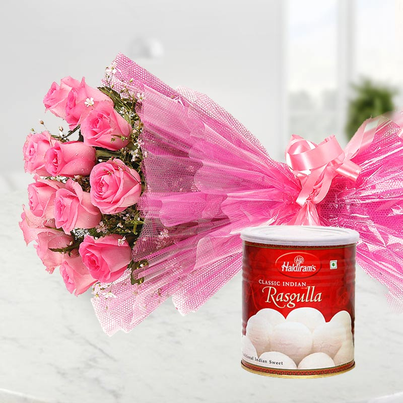 Flower Bouquet Delivery With Sweets
