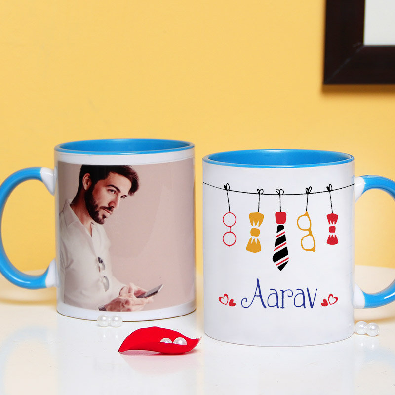 Personalised Cushion with Mug and Coaster
