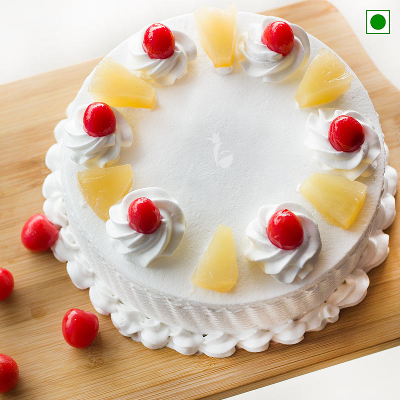 Eggless Pineapple Cake Delivery