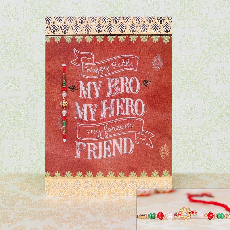 Card and Rakhi Combo for Bro