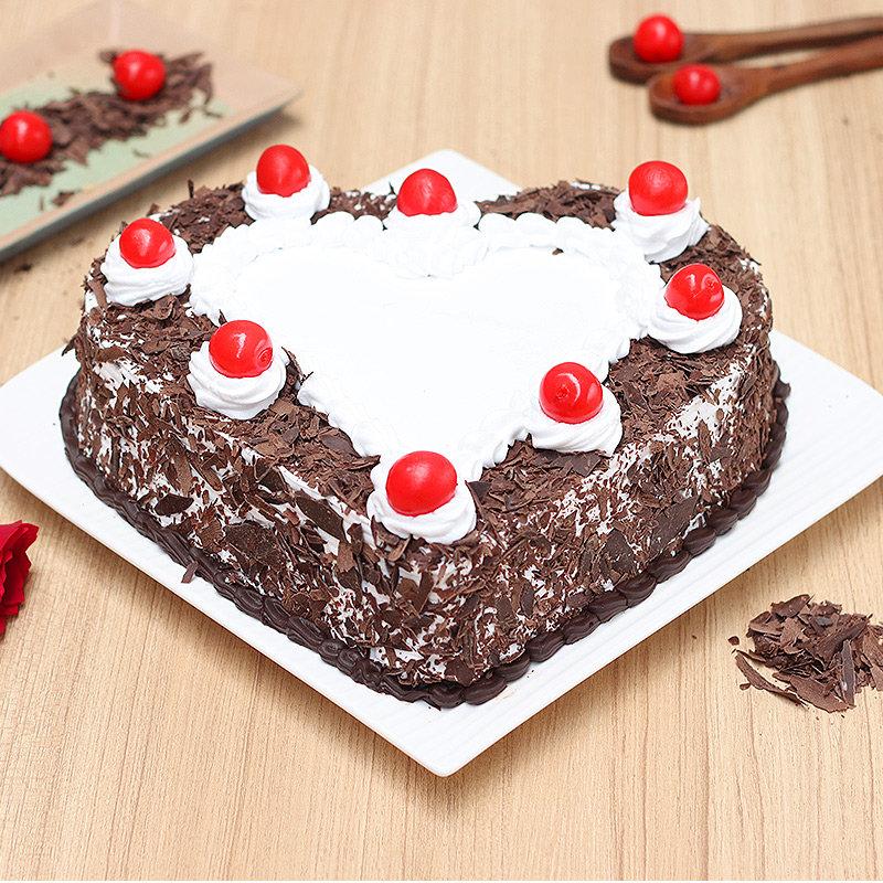 Heart-Shape Black Forest Cake