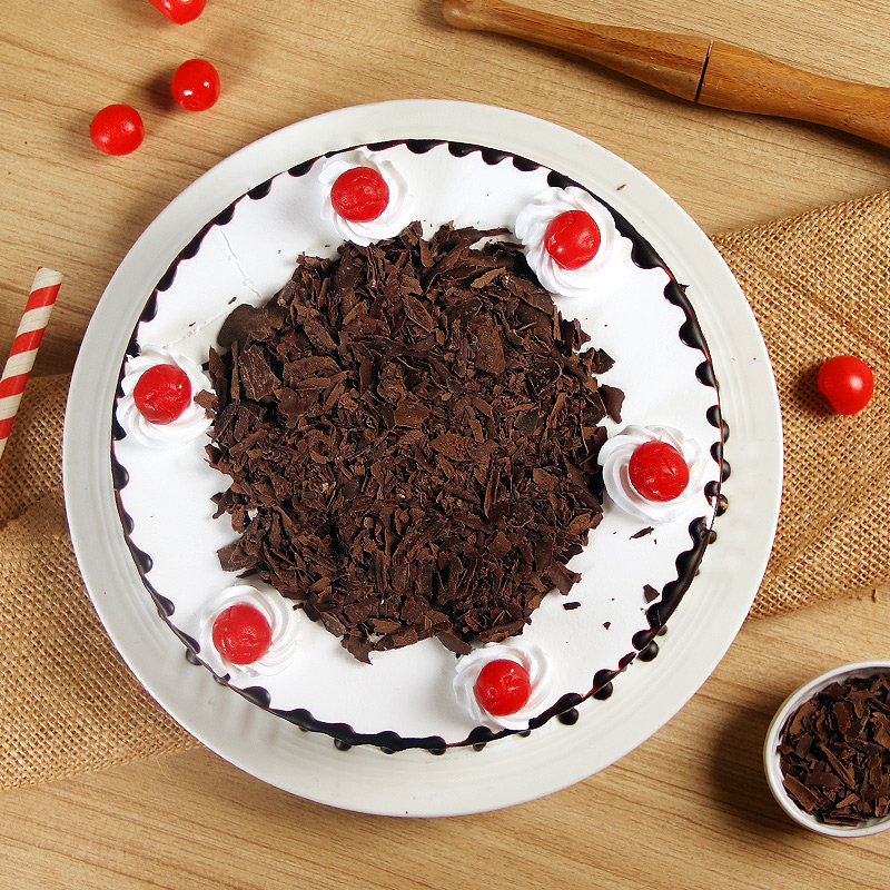 Top view of Luscious Black Forest Cake