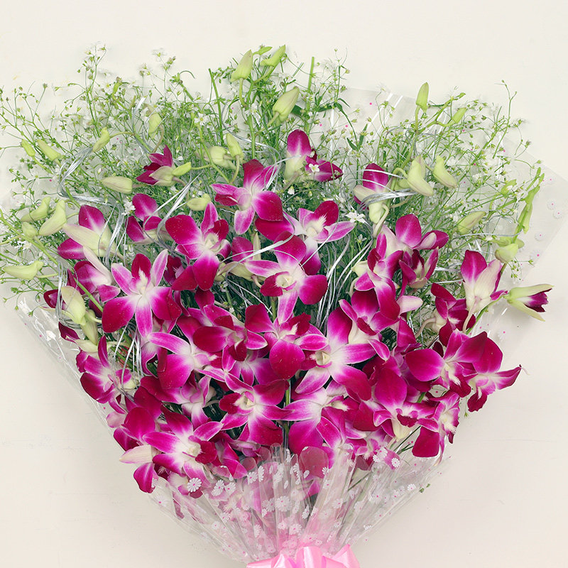 Orchids Bunch Zoom - Send Flowers Online