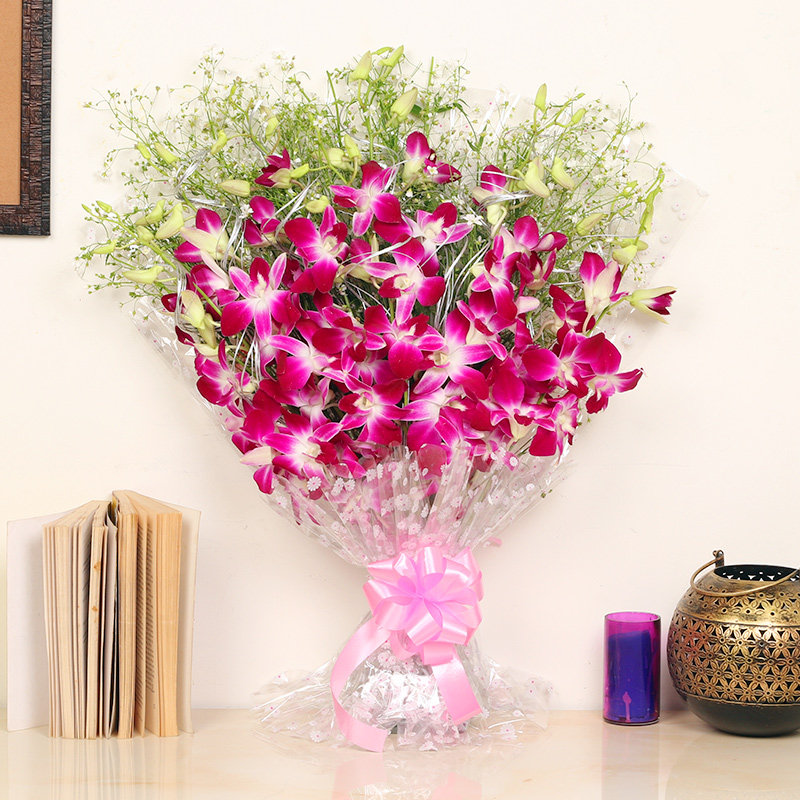 6 Orchids Bunch - Online Flowers Delivery