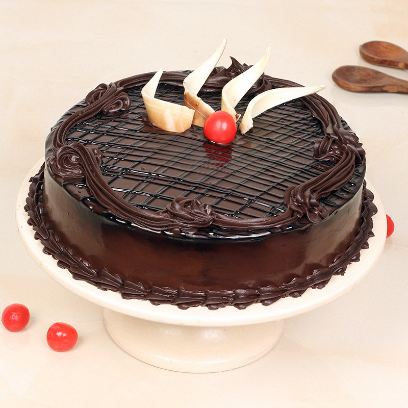 Valentines Kiss Day Gift - Chocolate Truffle Cake