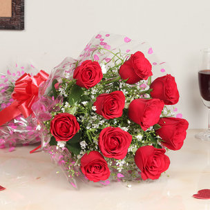 Send Red Roses Bouquet Online in India