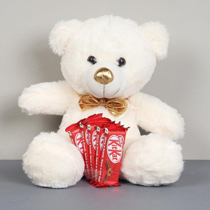 White Teddy Bear Combo