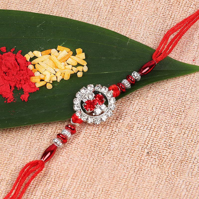 Shining Red Dori Rakhi