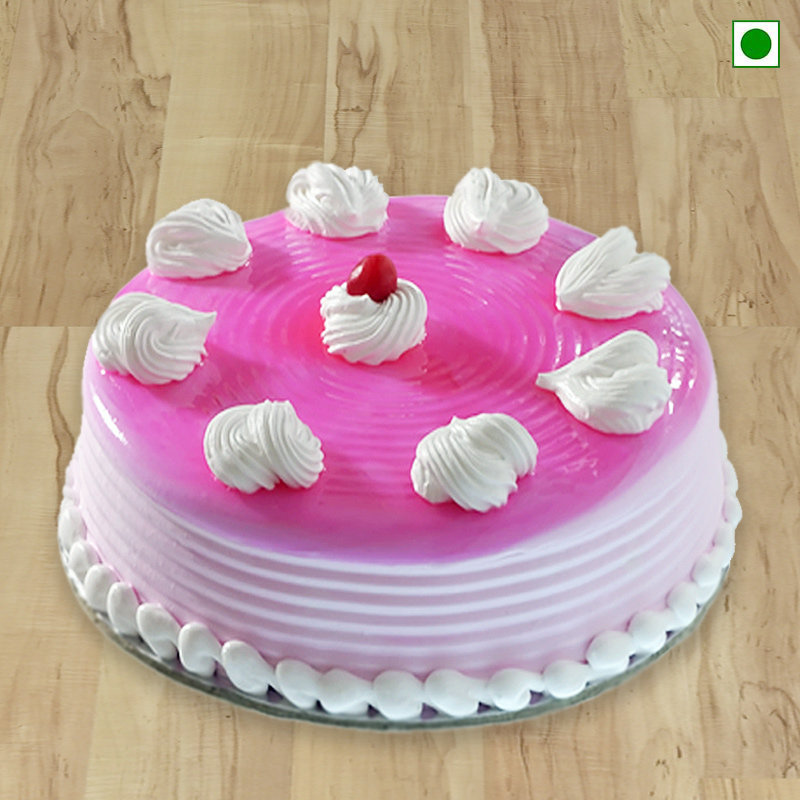Fresh Strawberry Eggless Cake Delivery