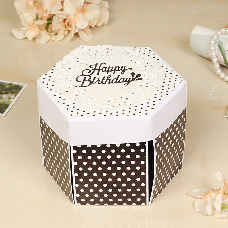 Personalised Explosion Tower Box 4 Layer