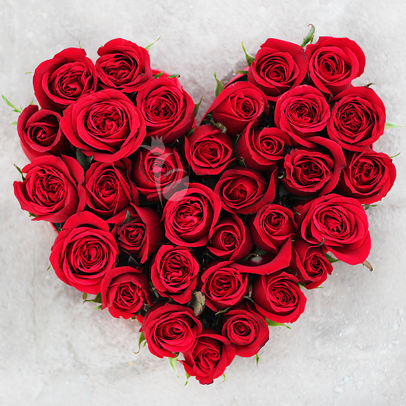 Valentine Heart Shaped Roses