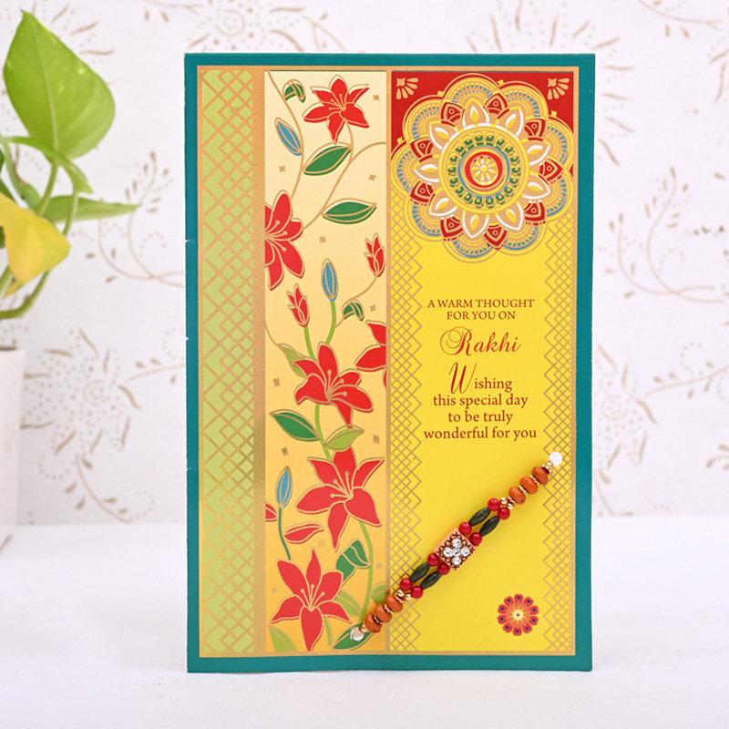 A Designer Rakhi Card