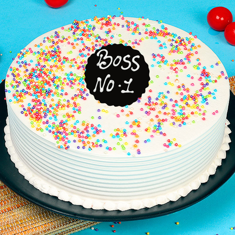 Vanilla Cake for Number One Boss
