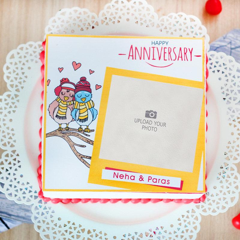 Photo Cake Wedding Anniversary