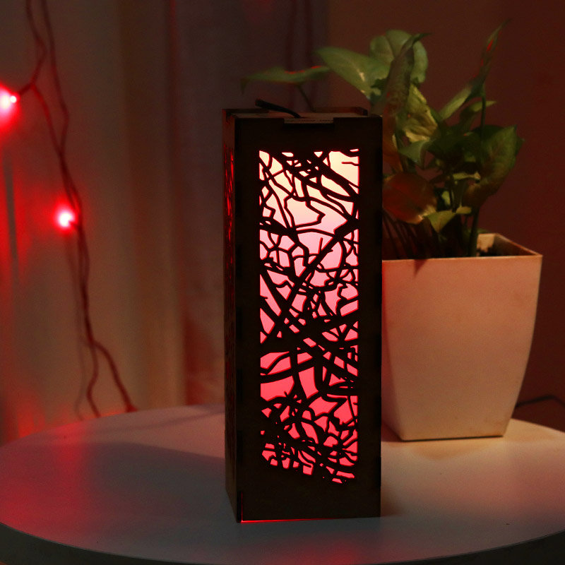 Led Wooden Lamp for her - A Perfect Gift for her