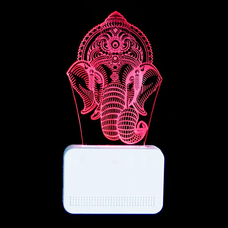 Acrylic Ganesha 3D Led Lamp